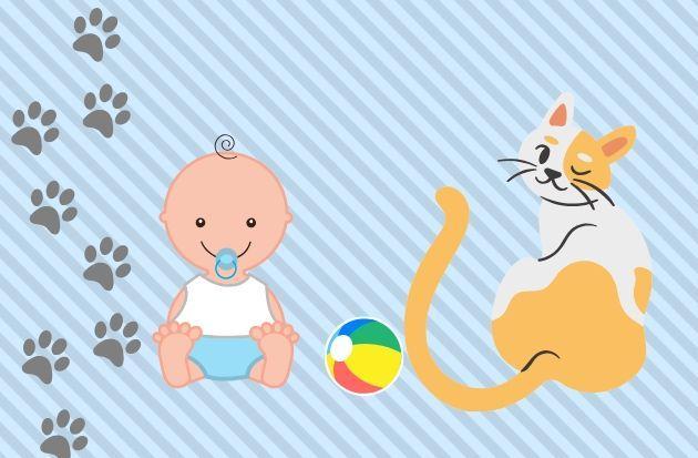 Домашние животные и младенец